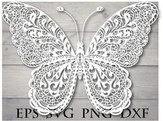 Mandala butterfly svg / zentangle butterfly svg / butterfly mandala / butterfly zentangle / butterfly for cricut / mandala for cricut design Zentangle, Mandala Animal, Paper Art, Paper Crafts, Foam Crafts, Paper Toys, Paper Cutting Patterns, Butterfly Mandala, Quilled Creations