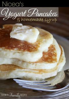 Niceas Yogurt Pancakes - They are probably the best pancakes I have ever had. The syrup is to die for! I practically drank this stuff, it is so good! Normally, I am not the biggest pancake fan, but I could eat these yogurt pancakes all day.
