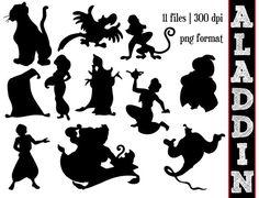 Aladdin Silhouettes // Disney Princess by SparkYourCreativity, $6.00