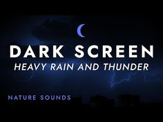 Heavy Rain and Thunder Sounds for Sleeping - Black Screen - Stress Relief   for Relaxing Sleep - YouTube Cant Sleep Remedies, Rain And Thunder Sounds, Native American Music, Nature Sounds, Black Screen, Relaxing Music, Soul Music, Stress Relief, Self Help