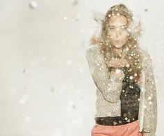 love this idea of blowing confetti or glitter for a photo.... will try this!