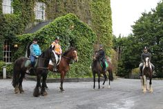 Group of riders at the haunted castle Riding Holiday, Hills And Valleys, Trail Riding, Medieval Castle, Ocean Waves, Trek, Equestrian, Mystic, Around The Worlds