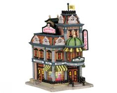 """Lemax Fan Pages (VPS) - Christmas Villages Collectors Web Site """"Wagman's Department Store"""" Lemax Village, Christmas Village Display, Christmas Village Houses, Christmas Villages, Christmas Ornaments, Christmas Clipart, Christmas Trees, Christmas Events, Christmas Party Games"""