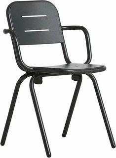 Fauteuil en métal noir Ray - Woud Outdoor Garden Furniture, Outdoor Chairs, Outdoor Decor, Deco Addict, Home Decor, Black Metal, Lounge Chairs, Decoration Home, Room Decor