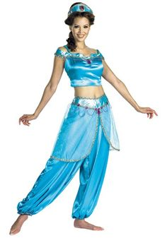 Bring to life the Disney movie Aladdin in this sexy womens Jasmine costume. The blue adult costume is perfect for a female and one of our sexy Disney princess costumes for Halloween. Princesa Disney Jasmine, Disney Princess Jasmine, Disney Princess Dresses, Disney Princesses, Arabian Princess Costume, Adult Princess Costume, Jasmine And Aladdin Costume, Princess Jasmine Costume, Pocahontas Costume