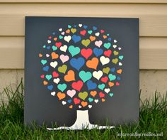 Heart Tree courtesy of Infarrantly Creative. I love the simple beauty of this design... It's both modern and whimsical :)