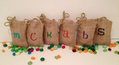 5 x 6 Personalized Favor Bags by 2happygrlzdesign on Etsy, $8.99