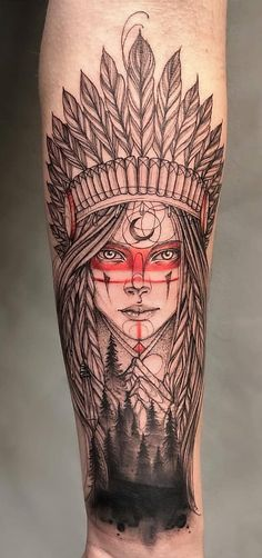 Interesting Name Tattoos And Brilliant Name Tattoo Ideas - The Best Tattoo Models Designs Quotes And Ideas For Women Men And Even Couples Home Tattoo Ideas Interesting Name Tattoos Are Compiled To Give You Ideas You Can Have The Name O Red Indian Tattoo, Indian Girl Tattoos, Indian Tattoo Design, Wolf Girl Tattoos, Forearm Tattoos, Body Art Tattoos, Hand Tattoos, Sleeve Tattoos, Tatoos