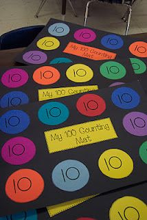 100 Day Counting Mats, need to make these in pre-k Kindergarten Classroom, Teaching Math, Classroom Ideas, Teaching Ideas, Teaching Numbers, Classroom Games, Creative Teaching, Kindergarten Activities, 100 Days Of School