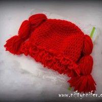 Crochet Cabbage Patch Kids Hat 6-12 Months