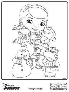 doc mcstuffins coloring pages - in-the-corner