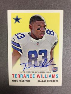 Cowboys fan or not, this Topps insert card of TWIll is pretty sweet. #SicEm // Terrance Williams, #Baylor University Class of 2012 (via ToppsCards/TerranceWill2 on Twitter)