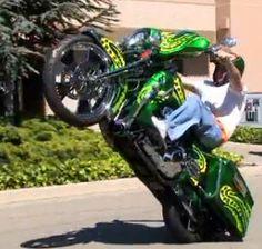 glide street wheelie baggers harley motorcycles custom bikes stunts crazy bad davidson biker ass stuff bike