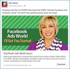 5 Examples of Facebook Ads That Worked and Why - Kim Garst | Marketing Strategies that WORK Facebook Advertising Tips, Facebook Marketing, Online Marketing, How To Use Facebook, Ad Design, Print Ads, Make It Simple, Marketing Strategies, Social Media