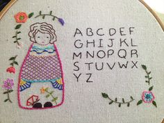Doll Sampler Finished | by Bits of Stitching!