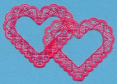 Interlocking hearts, made for an engagement card. Bobbin Lace Patterns, Crochet Doily Patterns, Crochet Doilies, Stitch Crochet, Filet Crochet, Irish Crochet, Bobbin Lacemaking, Lace Heart, Types Of Lace