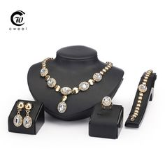 Sapphire Beads Collares Jewelry Sets For Women Fine Accessories Wedding Bridal Pendant Statement CZ Diamond Necklace Earrings Sapphire Jewelry, Diamond Jewelry, Gemstone Jewelry, Gold Jewelry, Jewelry Necklaces, Women Jewelry, Wedding Jewelry Sets, Wedding Accessories, Bridal Jewelry