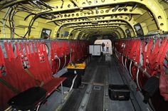 An interior view shows the first of two Boeing CH-47D Chinook helicopters to be released from military service at Billings Flying Service on Thursday. The helicopters will be refurbished for fire fighting and heavy lift operations.
