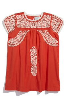 Peek 'Embroidered Salma' Dress   A boxy cotton dress takes its inspiration from traditional Mexican garb with gorgeous embroidery and an ultra-comfy cut. $58.  Nordstrom Rack