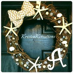 Check out this item in my Etsy shop https://www.etsy.com/listing/262388713/grapevine-beach-wreath-summer-wreath