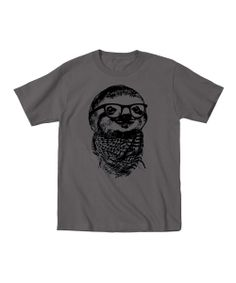 Charcoal Hipster Sloth Tee - Toddler & Kids | zulily
