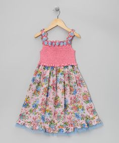 Take a look at this Pink Floral Lei Dress - Toddler & Girls by Ma Petite Amie on #zulily today!