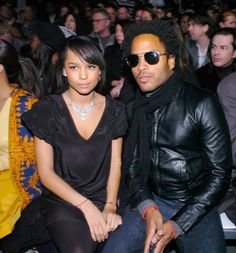 Pin for Later: 28 Pictures That Prove Zoë Kravitz Had No Choice but to Be Ridiculously Good-Looking  Lenny and Zoë sat front row for the Marc Jacobs NYFW show in February 2007.