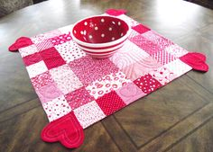 Be My Valentine Quilted Table Topper