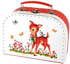 #Valisettes enfant Fairy Tale - Bianca and Family #fawn #deer