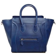 "Navy blue Celine look-alike tote bag Great Celine look-alike bag in a navy color, great quality and the size is comparable to the large Celine tote. Faux leather material. Very structured and durable. NO TRADE, NO RUDE COMMENTS, please use the ""offer"" feature Bags Totes"
