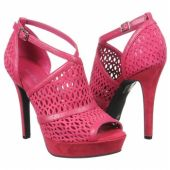 Anja by BCBG. Find them here: http://myshoes.com/bcbgeneration/anja/red-pink-and-magenta/suede/sandals