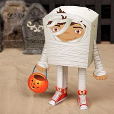 Mummy Paper Craft for Halloween