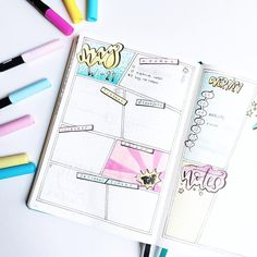 "2,626 Likes, 54 Comments - Roz • Bullet Journal (@rozmakesplans) on Instagram: ""April weeklies nicely lined up. #bulletjournal #bulletjournaling #planner #bujo"""