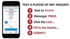 It's as simple as sending a text! Help us continue to help them!!! The Pennsylvania National Horse Show Foundationdonated to the following in 2015: Beyond Wishes Therapeutic Riding Program Buffalo Therapuetic Riding Center Capital Area Therapeutic Riding Chasing Rainbows Days End Horse Rescue Inc Equi-Librium Hope Springs Equestrian Therapy Inc Horses and Horizons Therapeutic Riding Ivy Hill Foundation Inc Leg Up Farm Mane Stream Quest Therapeutic Services Inc. The Retreat at Beckleysville…