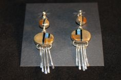 Southwest Multicolor And Sterling Silver Post Earrings
