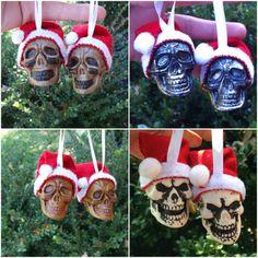 Hey, I found this really awesome Etsy listing at https://www.etsy.com/listing/85831613/you-pick-gothic-plastic-santa-hat-skulls