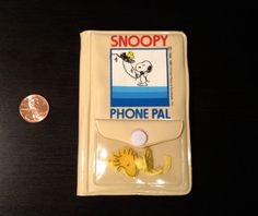 Vintage 1980s Snoopy and Woodstock Mini Phone by 80sVintageSnoopy, $20.00