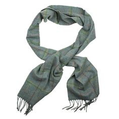 Newmarket Plaid Scarf in Blue by Barbour