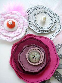 Hair Accessories Sewing Pattern for Flowers por preciouspatterns