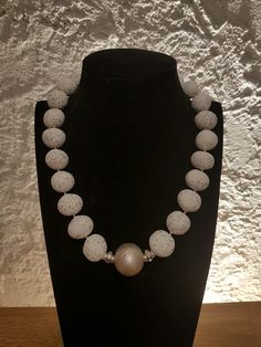 Pearl Necklace, Beaded Necklace, Wands, Pearls, Jewelry, Fashion, Minerals, Silver, Creative