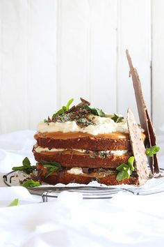 This minty cake is a throwback to Peppermint Crisp fridge tart. It is rich, sweet and utterly decadent.The Ultimate Peppermint Crisp-Cake. Baking Recipes, Cake Recipes, Dessert Recipes, Peppermint Crisp Tart, South African Desserts, Pudding Cake, Round Cakes, Cake Tins, Cakes And More