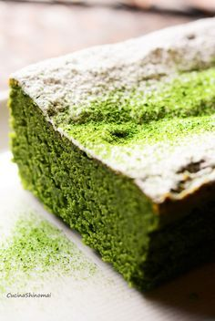 Matcha cake recipe in Japanese Japanese Cake, Japanese Sweets, Japanese Recipes, Easy Sweets, Sweets Recipes, Green Tea Dessert, Peanut Butter Snacks, Matcha Cake, Green Tea Ice Cream