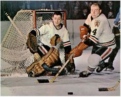 Glenn Hall is of course famous for his 502 consecutive games played, one of the true amazing records in all of professional sports. Ice Hockey Teams, Blackhawks Hockey, Hockey Goalie, Chicago Blackhawks, Hockey Players, Hockey Stuff, Nhl, Goalie Mask, St Louis Blues