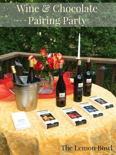 Wine and Chocolate Pairing Party {Lindt Giveaway!}