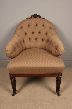 A Fine William IV Rosewood Upholstered Chair