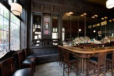 The Brooklyn Inn, Boerum Hill - 19th century wood bar
