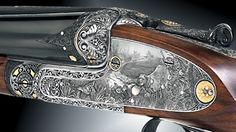 """This Aya gun was ordered by a spanish customer, using as a base model #56 12x28"""". It was engraved by Vicente Ituarte between 1997-1998."""