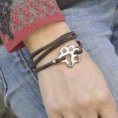 Dog paw boho wrap bracelet   #Dog #DogMonth #bracelet #jewelry #cowgirljewelry  http://www.islandcowgirl.com/