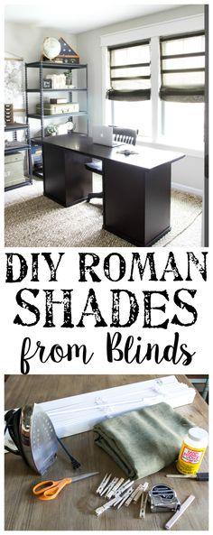 DIY Burlap Roman Sha