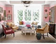 Pink Begonia 2078-50 (Benjamin Moore). Windsor Smith.